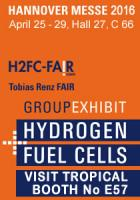 Tropical Fuel Cells Systems with Relion batteries first presentation in Hannover Fair 25-29 April