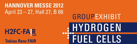 Meet us @ H2+FC 2012, 23-26 April, Hannover